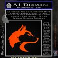 Wolf Head Decal Sticker Smooth Orange Emblem 120x120