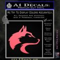 Wolf Head Decal Sticker Smooth Pink Emblem 120x120