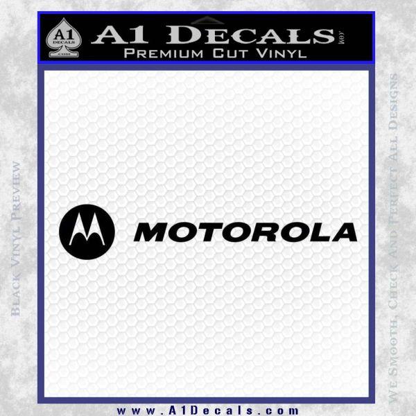 motorola wide Decal Sticker Black Vinyl
