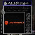 motorola wide Decal Sticker Orange Emblem 120x120
