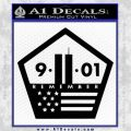 911 Remember Flag Pentagon Decal Sticker Black Vinyl 120x120