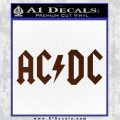 ACDC Rock Decal BROWN Vinyl 120x120