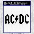 ACDC Rock Decal Black Vinyl 120x120