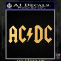ACDC Rock Decal Gold Vinyl 120x120
