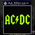 ACDC Rock Decal Lime Green Vinyl 120x120