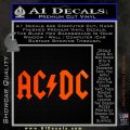 ACDC Rock Decal Orange Emblem 120x120