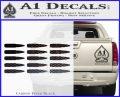 AK 47 Bullets Decal Sticker Carbon FIber Black Vinyl 120x97
