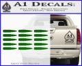 AK 47 Bullets Decal Sticker Green Vinyl Logo 120x97