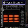 AK 47 Bullets Decal Sticker Orange Emblem 120x120