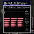 AK 47 Bullets Decal Sticker Pink Emblem 120x120