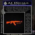 AK47 Decal Sticker Orange Emblem 120x120
