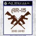 AR 15s Gun Rights AR15 Decal Sticker BROWN Vinyl 120x120