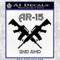 AR 15s Gun Rights AR15 Decal Sticker Black Vinyl 120x120