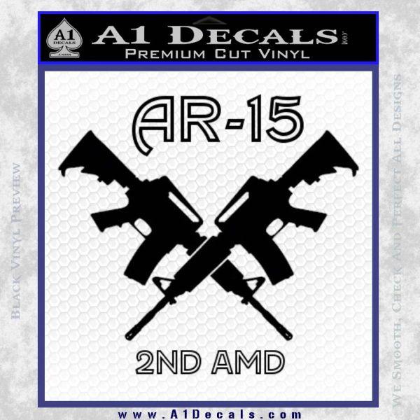 AR 15s Gun Rights AR15 Decal Sticker Black Vinyl
