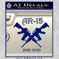 AR 15s Gun Rights AR15 Decal Sticker Blue Vinyl 120x120