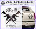 AR 15s Gun Rights AR15 Decal Sticker Carbon FIber Black Vinyl 120x97