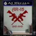 AR 15s Gun Rights AR15 Decal Sticker DRD Vinyl 120x120