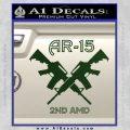 AR 15s Gun Rights AR15 Decal Sticker Dark Green Vinyl 120x120