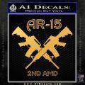 AR 15s Gun Rights AR15 Decal Sticker Gold Vinyl 120x120