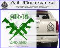 AR 15s Gun Rights AR15 Decal Sticker Green Vinyl Logo 120x97