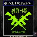 AR 15s Gun Rights AR15 Decal Sticker Lime Green Vinyl 120x120