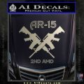 AR 15s Gun Rights AR15 Decal Sticker Metallic Silver Emblem 120x120