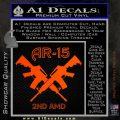 AR 15s Gun Rights AR15 Decal Sticker Orange Emblem 120x120