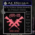 AR 15s Gun Rights AR15 Decal Sticker Pink Emblem 120x120
