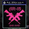 AR 15s Gun Rights AR15 Decal Sticker Pink Hot Vinyl 120x120