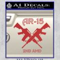 AR 15s Gun Rights AR15 Decal Sticker Red 120x120