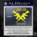 AR 15s Gun Rights AR15 Decal Sticker Yellow Laptop 120x120