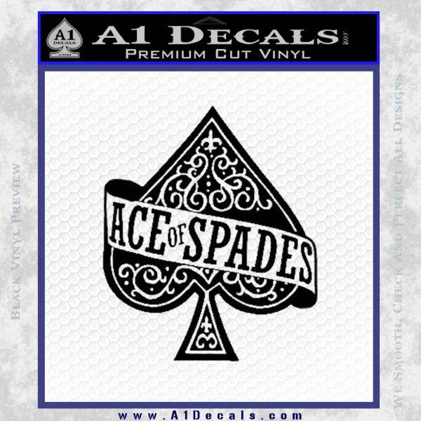 Ace Of Spades Intricate Decal Sticker Black Vinyl