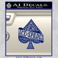Ace Of Spades Intricate Decal Sticker Blue Vinyl 120x120