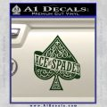 Ace Of Spades Intricate Decal Sticker Dark Green Vinyl 120x120