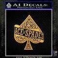 Ace Of Spades Intricate Decal Sticker Gold Vinyl 120x120