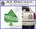 Ace Of Spades Intricate Decal Sticker Green Vinyl Logo 120x97