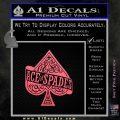 Ace Of Spades Intricate Decal Sticker Pink Emblem 120x120