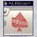 Ace Of Spades Intricate Decal Sticker Red 120x120