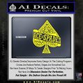 Ace Of Spades Intricate Decal Sticker Yellow Laptop 120x120