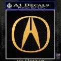 Acura Emblem Logo Decal Sticker Gold Vinyl 120x120