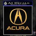 Acura Full Decal Sticker Gold Vinyl 120x120