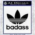 Adidas Badass D1 Decal Sticker Black Vinyl 120x120