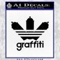 Adidas Graffiti D1 Decal Sticker Black Vinyl 120x120