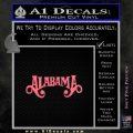 Alabama Decal Sticker Band 10 120x120
