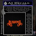 Alabama Decal Sticker Band 11 120x120