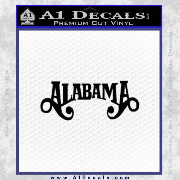 Alabama Decal Sticker Band 21