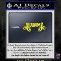 Alabama Decal Sticker Band 3 120x120