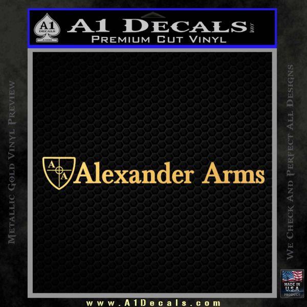 Alexander Arms rr Decal Sticker Gold Vinyl
