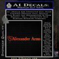 Alexander Arms rr Decal Sticker Orange Emblem 120x120