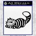 Alice In Wonderland Cheshire Cat Decal Sticker Black Vinyl 120x120
